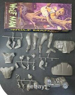 1962 Aurora Wolf Man Monster Model Kit In Original Box Unassembled See Photos