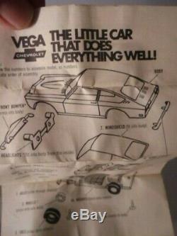 1970's Chevy Vega Blue Dealer Promo Mint Complete & UNASSEMBLED in Original Box