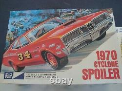 1/25 1970 Mercury Cyclone Spoiler Unassembled, Most Parts In Original Bags