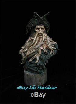 1/3 Unpainted Davy Jones Pirates Bust Caribbean Resin Statue GK Unassembled