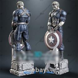 1/4 Scale Captain America Resin Model Kits Unpainted 3D Printing Unassembled