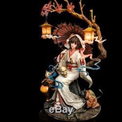1/6 Resin Figure Model Kit beauty Magic Woman kimono Girl unpainted unassembled