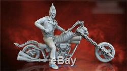 1/6 Scale Ghost Rider Resin Model Kits Unpainted 3D Printing Unassembled