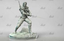 1/6 Witcher Hunter Unpainted Resin Model Kits Unassembled Garage Kit 3D Printing