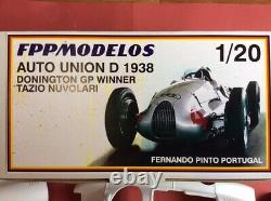 AUTO UNION D 1938 Nuvolari's Donington winner 1/20 unassembled model kit FPPM
