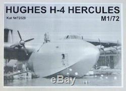 Amodel 72029 Hughes H-4 Hercules Aircraft, 1/72 scale plastic model kit