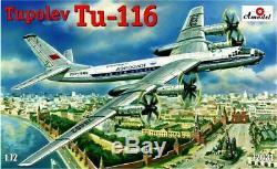 Amodel 72031 1/72 Tupolev Tu-116 Passenger Aircraft, scale plastic model kit