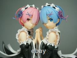 Anime Ram & Rem Unpainted GK Model Resin Kits Toy Action Figure Unassembled Doll
