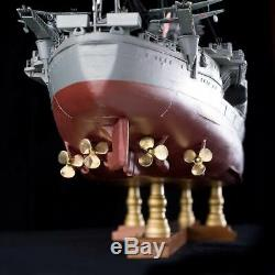 Battle Ship YAMATO 1/250 Scale Unassembled Wooden Diecast Model Kit Complete Set