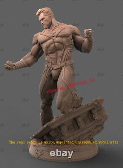 Black Superman 16 Unpainted 29cm Model Kit Unassembled 3D Printing Garage Kit