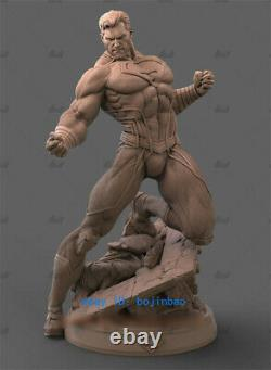 Black Superman 1/4 Resin Model Kits Unpainted 3D Printing Figure Unassembled