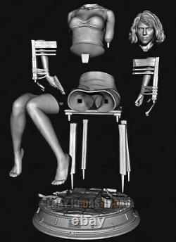 Black Widow 1/4 Figure 3D Printing Model Unpainted Unassembled GK 36cm/14inch