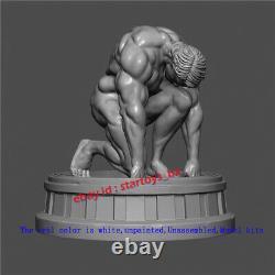 Bodybuilder Unpainted 22cm 16 Figurine Model Kit 3D Print Unassembled Statue GK