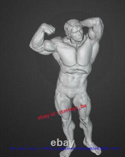 Bodybuilder Unpainted 30cm H Figurine Model Kit 3D Print Unassembled Statue GK