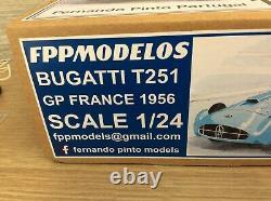 Bugatti t251 F1 Trintignant 1956 GP France FPPM 1/24 unassembled model kit