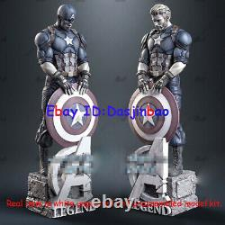 Captain America 1/6 3D Print Model Kit Unpainted Unassembled 36cm 2 Heads GK