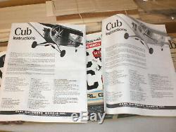 Carl Goldberg Model K-63 Anniversary Piper Cub RC Model Airplane Kit Unassembled