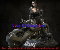 Catwoman On Motorcycle 1/6 Figure 3D Print Model Kit Unpainted Unassembled 30cm