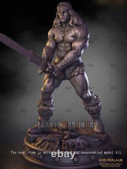 Conan Warrior Unpainted 1/6 Resin Figure 3D Print Model Kit Unassembled GK H32cm