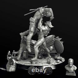 Deadpool vs Wolverine 3D PRINTED 1/6 Garage Kit Unpainted/unassembled 12in/30cm