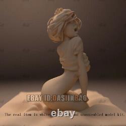 Dozing Girl Unpainted Figure 3D Print Model Unassembled GK H20cm/7.8inch