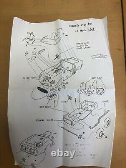 FERRARI 250 TRI (Testarossa) LeMans 1961 FPPM 1/24 unassembled resin model kit