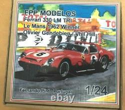 FERRARI 330 TRI (Testarossa) LeMans 1962 FPPM 1/24 unassembled resin model kit