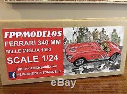 FERRARI 340mm Mille Miglia 1953 winner FPPM 1/24th scale unassembled model kit