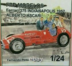 FERRARI 375 INDY 1952 or 1951 GB GP winner FPPM 1/24 unassembled model kit