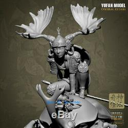 Fantasy Female Warrior Resin Figure Unpainted 1/24 YUFAN Model Kits Unassembled