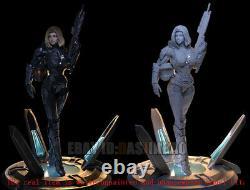 Female Officer Unpainted Resin Figure 3D Print Model Unassembled 37cm/14.5inch