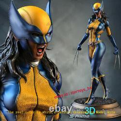 Female Wolverine 16 Unpainted 33CM Model Kit Unassembled 3D Printing GK Figure