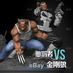 H30cm Punisher VS Wolverine Resin Model Kits Unpainted 3D Printing Unassembled