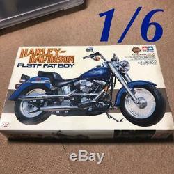 Harley Davidson Flstf Fat Boy 1/6 Scale Assembly Kit Unassembled Tamiya Bike F/s