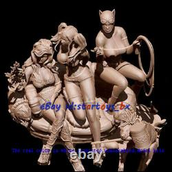 Harley Quinn & Poison Ivy &Catwoman 18 Unpainted 3D Print Model Kit Unassembled