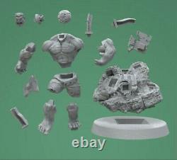 Hulk 1/6 Action Figure Statue Unpainted 3D Print Unassembled Garage Model Kit