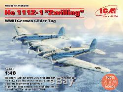 ICM 48260 1/48 He 111Z-1 Zwilling, WWII German Glider Tug Plastic model