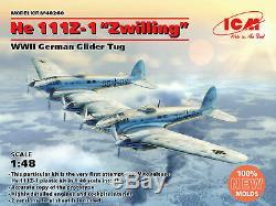 ICM 48260 1/48 He 111Z-1 Zwilling, WWII German Glider Tug Plastic model -NEW