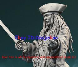 Jack Sparrow Figure 3D Print Model Kit 1/6 Unpainted Unassembled 32cm GK