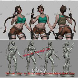 Lara Croft 16 32cmH Unpainted Model Kit Unassembled 3D Printing GK Garage Kit