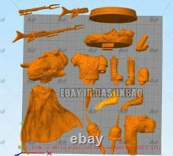 Mandalorian Unpainted 1/6 Figure 3D Print Model Unassembled GK 34cm/13.3inch
