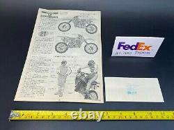 Oshika Tamiya 1/12 Honda CR450R With motocross rider 1983 Vintage Unassembled