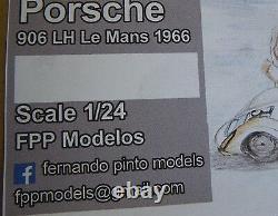 PORSCHE 906 LH le mans 1966 long or short tail FPPM 1/24 unassembled model kit