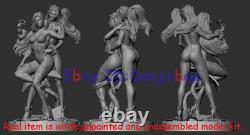 Poison Ivy Hug Harley Quinn 1/6 Figure 3D Print Model Kit Unpainted Unassembled