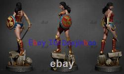 Princess Warrior 2 Heads 1/6 Figure 3D Printing Model Unpainted Unassembled 40cm