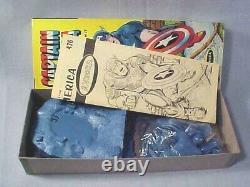 RARE Vintage Original AURORA CAPTAIN AMERICA No. 476-100 NOS UNASSEMBLED 1966