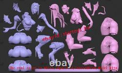 Raven Female 16 Unpainted 23CM H Model Kit Unassembled 3D Print GK Garage Kit