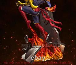 Rogue VS Captain Marvel 3D Print Model Kit Unassembled Unpainted H30cm/11.8inch