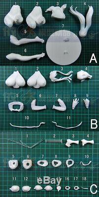 Scale 1/6 Unpainted DominancE Illisa Unassembled Figure Model Garage Kit Toys