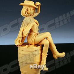 Scale 1/9 Unpainted COWGIRL LIVE Unassembled Resin Cast Figure Garage Kit Model